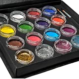 Bo Buggles Professional Face Paint Kit + 50 Stencils. Water-Activated XL Face Painting Palette. Loved by Pro Painters...