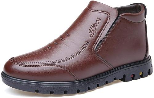 MAGAI Chaussures en Coton pour Hommes, Chaussures D'age Moyen pour Hommes, Chaussures en Coton Décontractées pour Aider Les Chaussures De Papa