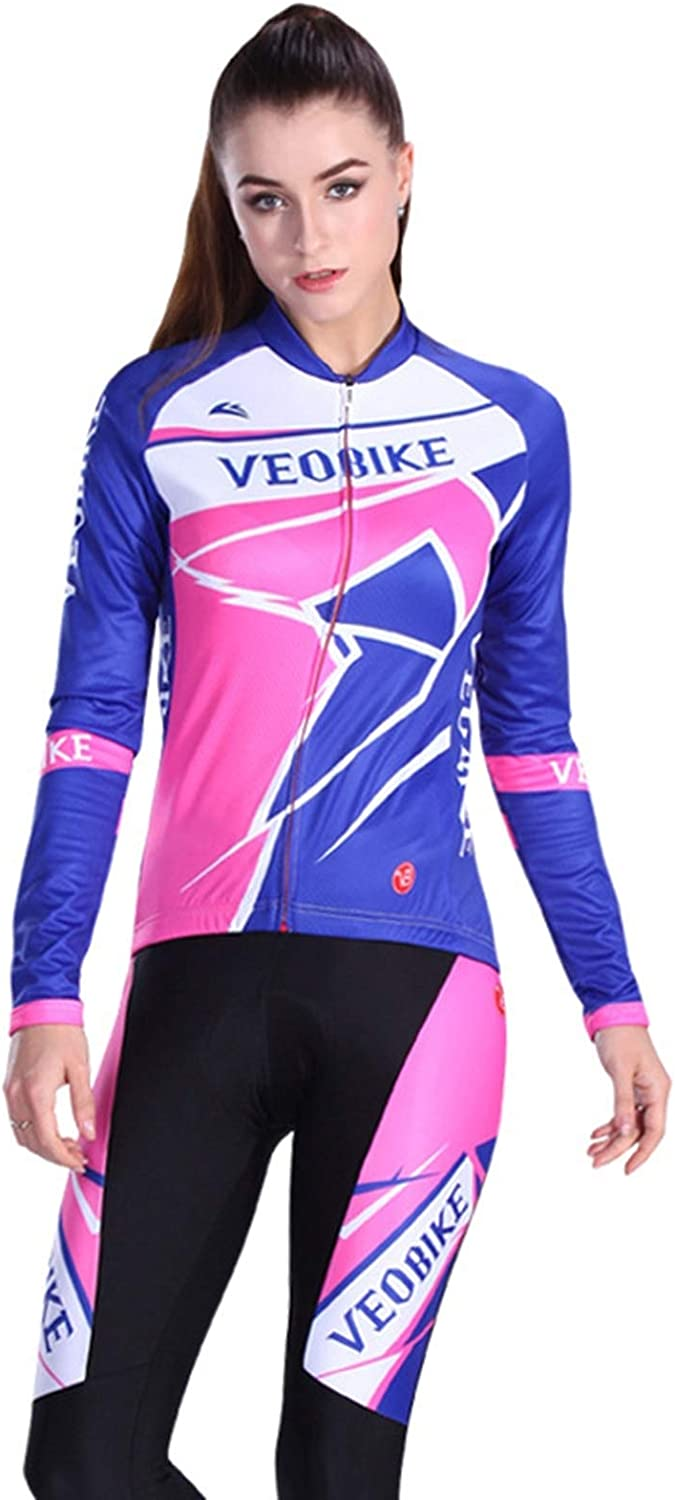AmDxD Women's Jersey Cycling Set Spring Summer Autumn Breathable Sports Clothes