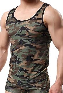 メンズ タンク トップ スクウェア ネック 袖なし ボディー ビル 筋肉 ショー スポーツ ウェア ベスト
