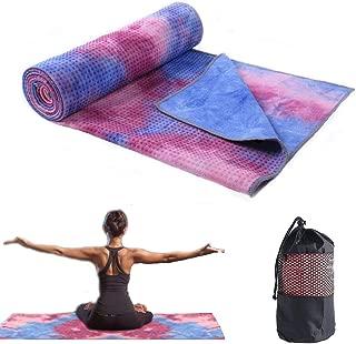 GooKit Yoga Towel Mat, Microfiber Sweat Absorbent Hot Yoga Towel, Quick Dry Yoga Mat Towel for Hot Yoga, Pilates and Workout