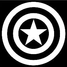 Cove Signs Captain America Decal/Sticker - White 4