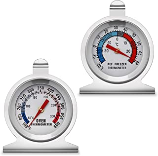 KT THERMO 2-Inch Dial Thermometer,Oven and Refrigerator/Freezer Thermometer …
