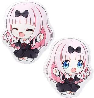 futurecos Kaguya sama Love is War Fujiwara Chika Throw Pillows Reversible Plush Doll Toy Pillow Cushion Anime Stuffed Pillow Toys Gift for Girls Boys