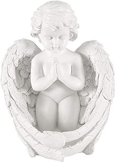 تمثال نصفي للحدائق من الراتنج يصلي المجنح ديكور داخلي وخارجي للحدائق المنزلية ملاك، تمثال منحوتة، تمثال تذكاري، تمثال ملا...