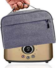 Hsonline 2 Slice Toaster Cover, with Zipper & Open Pockets Hold Spreader Knife & Toaster Tongs, Dust and Fingerprint Prote...