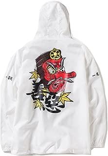 PERDONTOO Men's Windproof Hooded Zip-up Lightweight Windbreaker Jacket