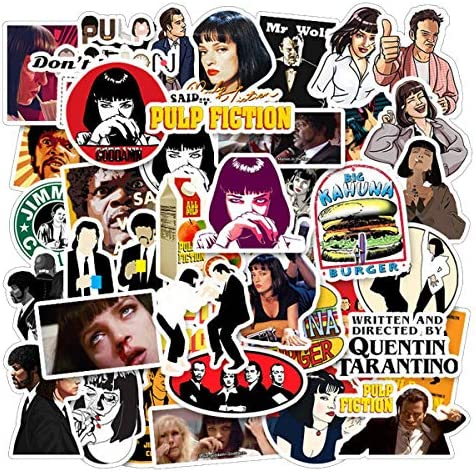 Pulp Fiction TV Show Merchandise Stickers Pack of 50 Stickers Funny Quote Waterproof Vinyl Stickers product image