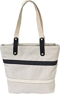 Lustear Tote Bags Shoulder Hand Bags Casual Stripes Large Capacity Canvas Bag for Women