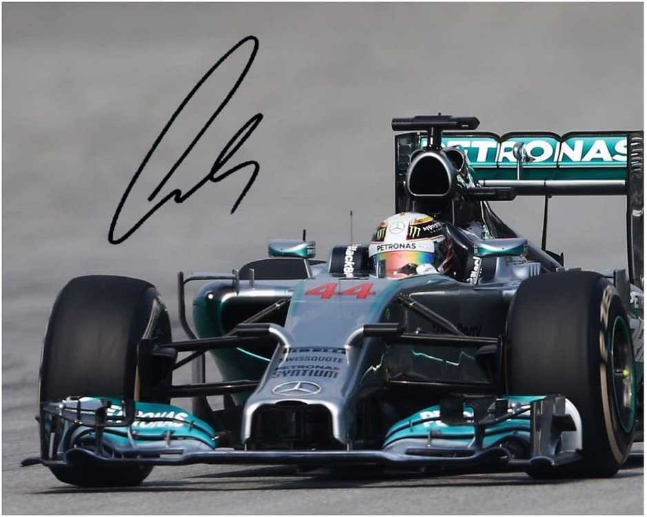 Photo Lewis Hamilton Recommendation Signed Ranking TOP13 8 Autographed 10 x