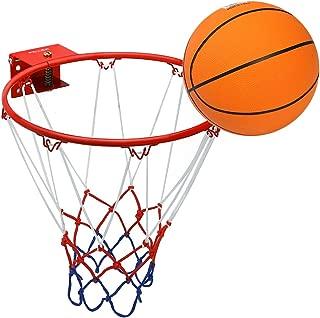 Pellor Aro de Baloncesto, Canasta Baloncesto Infantil Interior y Exterior con Baloncesto de Goma y Bomba Canasta Pared para Niños Chicos Adultos