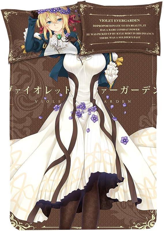 Violet Evergarden Cosplay Anime Cover BedSheet Pillowcase 4pcs Bedding Set