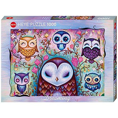 HEYE 29768 Standardpuzzle, Big Owl 1000 Teile, Jeremiah Ketner Puzzle, Grey