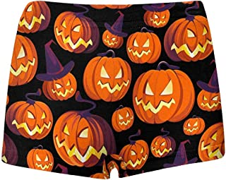 INTERESTPRINT Boys Halloween Scenery ComfortSoft Printed Boxer Briefs L