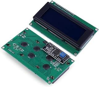 JANSANE 20x4 2004 LCD Arduino Display Screen Blue + IIC I2C Module Interface Adapter for Raspberry pi 2 Pack