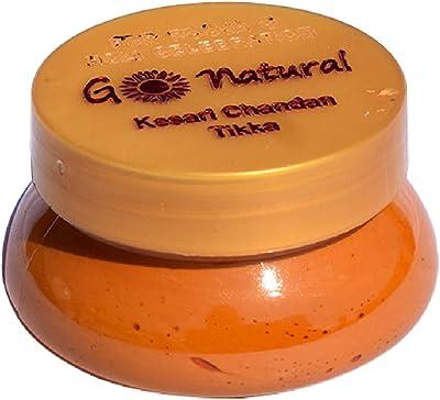 LexTure Genuine Chandan Kesari Tilak for Holi Pooja and Religious use, Tika Paste (1 Jars of 100 Gram)