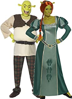 Couples Ladies and Mens DreamWorks Shrek and Fiona Halloween Film Fancy Dress Costumes Outfits