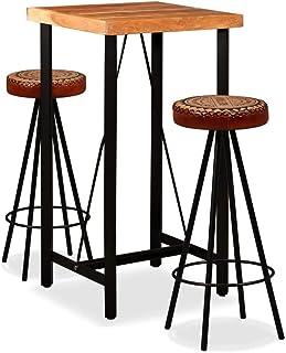 44aed410e678 Festnight- Mesa Alta de Bar Estilo Industrial con Taburetes 3 Piezas