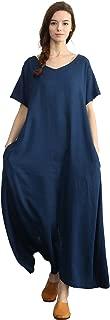 Women's Linen Loose Summer Large Size Long Dress Plus Size Cotton Clothing