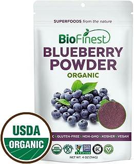 BioFinest Wild Blueberry Juice Powder - 100% Pure Freeze-Dried Superfood - Usda Certified Organic Kosher Vegan Raw Non-Gmo...