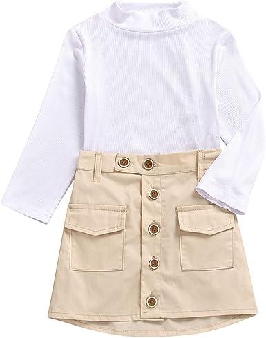 Tianhaik 2-7 años Conjunto de Ropa de niña para niños Camisa ...