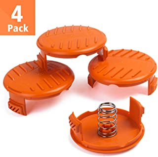 FutureWay Trimmer Replacement Spool Cap Covers and Spring Compatible with Black Decker GH900 LST201 GH600 NST2018 CST2000, Weed Easter String Autofeed Cap, 4 Spool Head Covers + 4 Springs