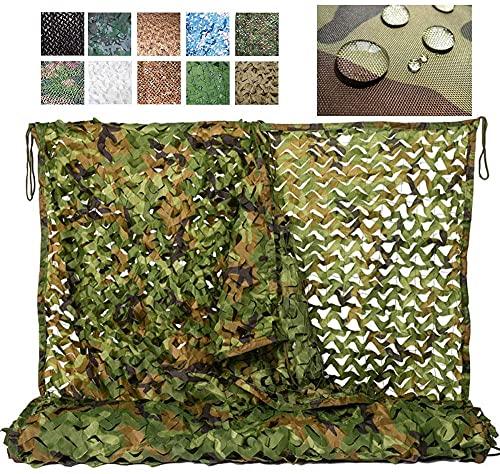 Protección Camufar para Jardín, Camo Netting Camuflage Woodland Net, Sombrilla De Jardín, Para El Ejército Tirotaje Camping Camping Hogin Hidgle, Personalización Disponible(Size:4x6m(13.1*19.7ft))