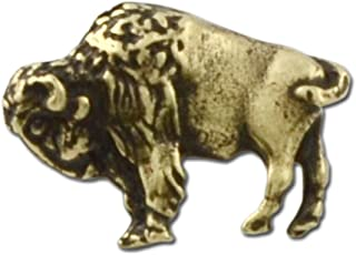 Buffalo Lapel Pin - Antique Brass
