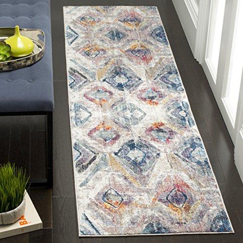 Safavieh Eleganter Teppich, BTL356, Gewebter Polyester Läufer, Lavendel / Hellgrau, 62 x 240 cm