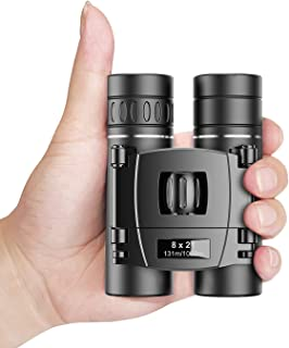 Apexel 8x21 Binoculars Compact Lightweight Binoculars for Concert Theater Opera,Mini Pocket Binoculars FMC Lens for Travel...