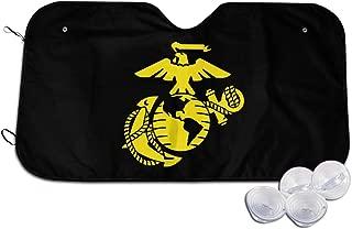 PLOR USMC Marine Corps Logo Car Windshield Sun Shade Funny Novelty M