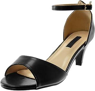 7da5313e4d6e Angkorly - Scarpe Moda Sandali Decollete con Tacco con Cinturino alla  Caviglia Elegante Donna Tanga Tacco