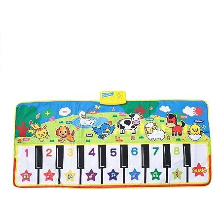 Estera De Baile Musical Bebé Educación Temprana Música Teclado De Piano Alfombra De Juego Actividad Manta De Gimnasio Aprender Cantar Juguete ...