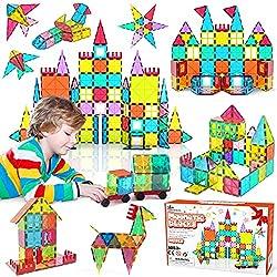 small Jasonwell 108pcs Magnetic Block Children's Magnetic Tiles Building Blocks 3D Magnetic Tiles Set…