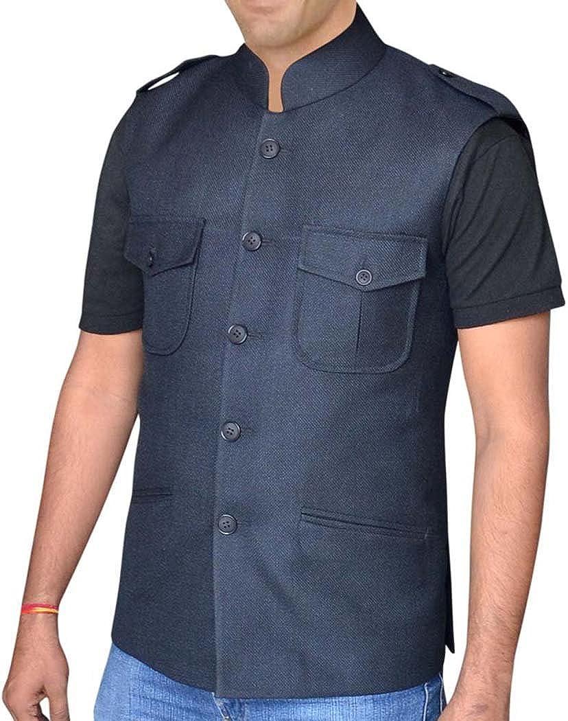 INMONARCH Mens Tweed Waistcoat Nehru Collar Hunting Style Vest NV04