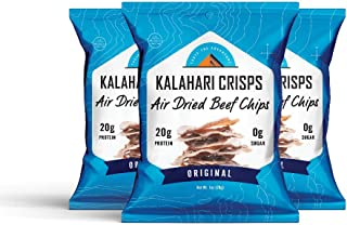 Kalahari Biltong Crisps | Original Flavor | Air Dried Beef Chips | 20g of Protein | Keto-Friendly, Soy-Free, Gluten-Free a...
