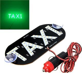 12V Taxi 45 LED Cab Roof Top Sign Indicator Light Auto Inside Windscreen Lamp Empty Light (14cm7cm,Green)