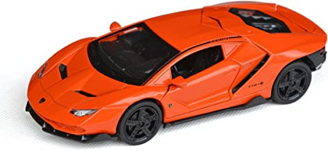 Tianmei 1:32 Scale Supercar LP770 Styling Alloy Die-Cast Car Model Collection, Children's Play Vehicles and Pull Back Kids Toys with Open Doors Will Trigger Sound & Light (LBJN - Orange)
