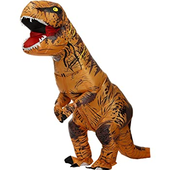 Zi Xi & Zi Qi T-Rex Inflatable Dinosaur Mascot Party Costume Fancy ...