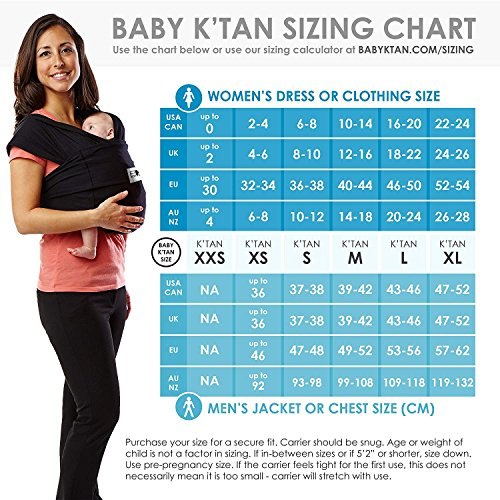 No Rings or Buckles Simple Wrap Holder for Babywearing Infant and Child Sling W Dress 2-4 // M Jacket up to 36 Houndstooth Baby K/'tan Print Baby Wrap Carrier Carry Newborn up to 35 lbs XS