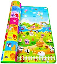 ZOSOE Double Sided Waterproof Baby Mat Baby Crawl Play Mat Kids Infant Crawling Play Mat Carpet Baby Gym Baby Play & Crawl Mat with Zip Bag to Carry (Large Size - 6 X 4 ft) Playmat for Babies