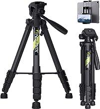"""پایه سه بعدی دوربین فیلمبرداری Endurax 66 """"برای پایه دوربین DSLR سبک آلومینیومی Canon Nikon با پایه تلفن جهانی و کیف حمل"""
