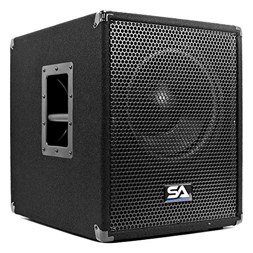 "Seismic Audio - Shockwave-12 - Powered 12"" Pro Audio/DJ Subwoofer Cabinet with Class D Amp 800 Watts"