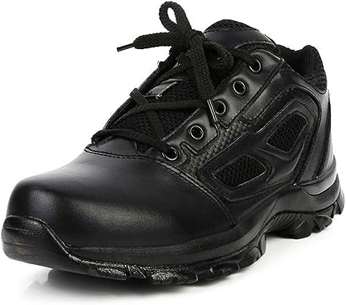YongBe bottes démarrage Hommes Bottes d'entraîneHommest en en Cuir Noir Commando Militaire Trekking Randonnée armée de Combat Plein air pour Le Travail Chaussures Montantes à Lacets  vente en ligne