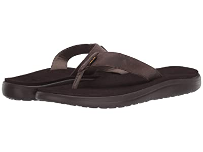 Teva Voya Flip Leather (Chocolate Brown) Men