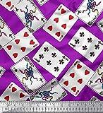 Soimoi Lila Satin Seide Stoff Indoor-Spiel Poker-Karte