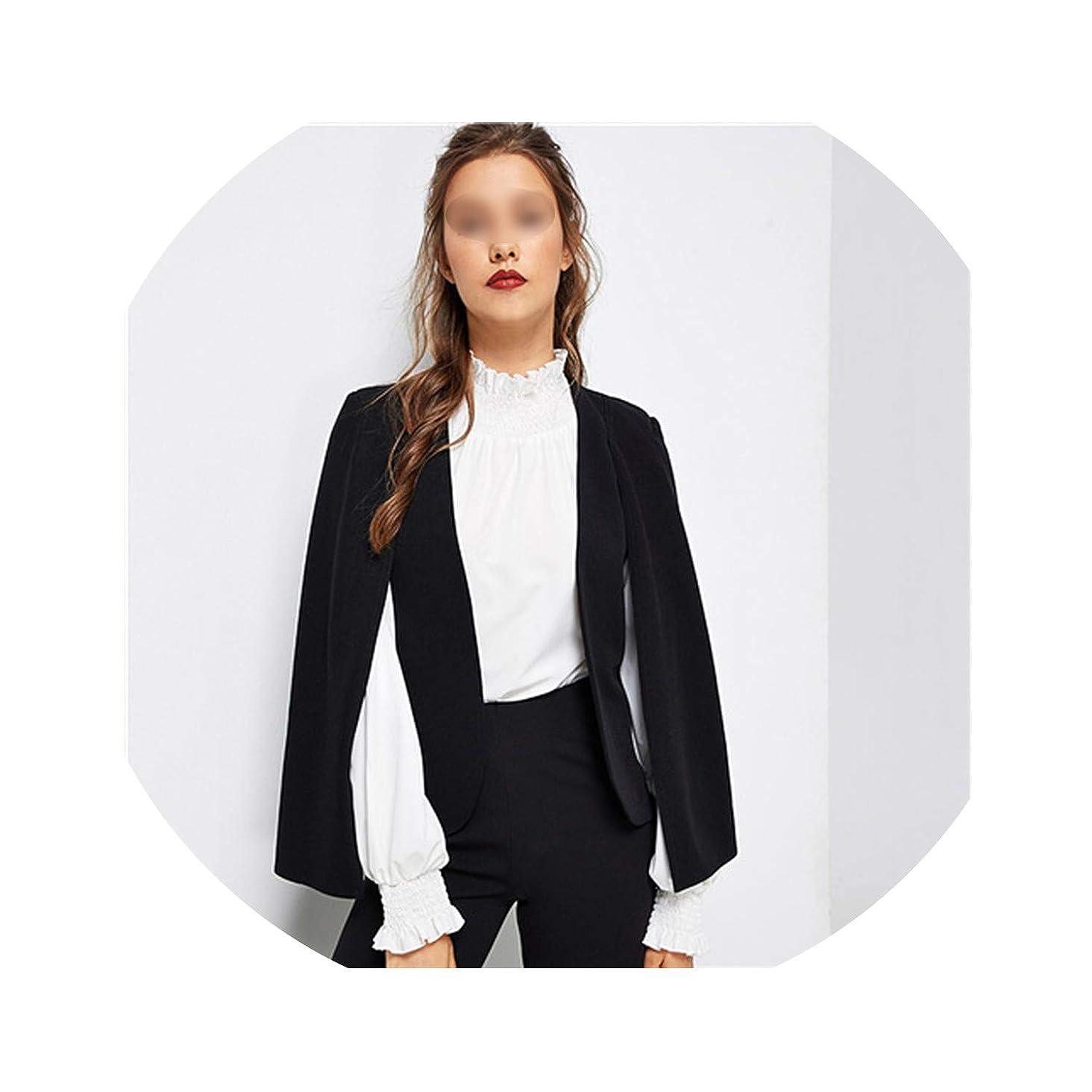 Lady Streetwear Cloak Open Front Blazer Elegant Modern Lady Workwear Women Coats Outerwear