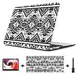 Negro Blanco Color Tribal Navajo Macbook Air/Pro 11/12/13/15 Inch Estuche Plástico Estuche rígido Carcasa Apple Laptop Estuches Macbook Air Estuches Fundas para Laptop