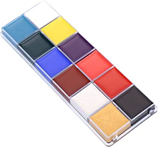 Frcolor 12 Flash Colors Case Tattoo Face Body Paint Halloween Party Fancy Dress Oil Painting Art Beauty