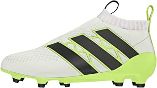 adidas Womens Ace 16+ Purecontrol FG/AG Soccer Cleats - (White/Solar Yellow/Core Black)